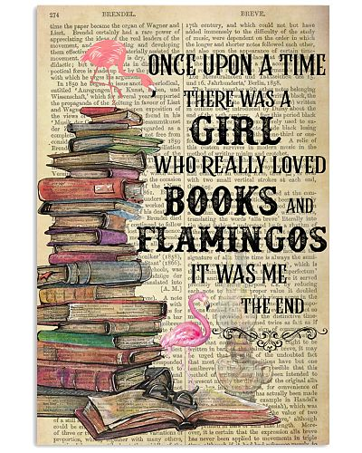 Books Flamingos Once Upon A Time Vertical Poster
