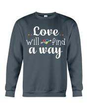 Love Will Find A Way Autism Crewneck Sweatshirt thumbnail