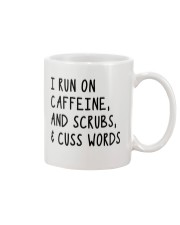 I run on caffeine scrubs and cuss words Mug thumbnail