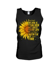 I became a teacher Unisex Tank thumbnail