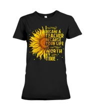 I became a teacher Premium Fit Ladies Tee front