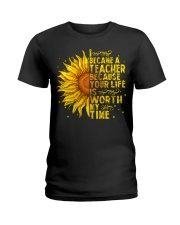 I became a teacher Ladies T-Shirt thumbnail