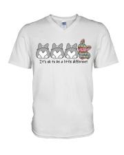 A Little Different Corgi V-Neck T-Shirt thumbnail