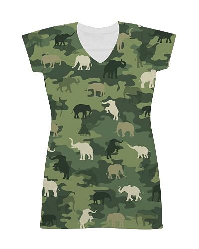 Cute Elephant Camo Fullprint T-shirt
