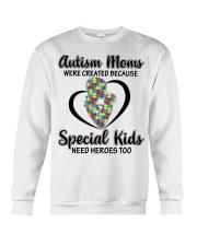 Autism mom Crewneck Sweatshirt thumbnail