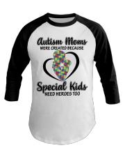 Autism mom Baseball Tee thumbnail