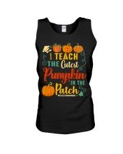 I Teach The Cutest Pumpkin In The Patch Unisex Tank thumbnail
