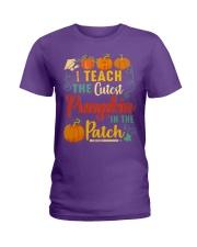 I Teach The Cutest Pumpkin In The Patch Ladies T-Shirt thumbnail