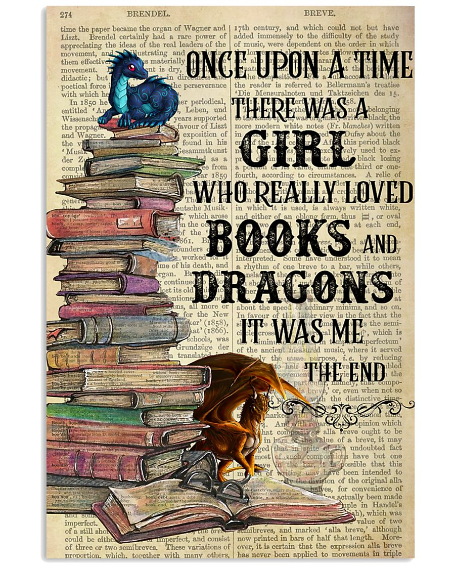 Books Dragons Once Upon A Time Vertical Poster 11x17 Poster