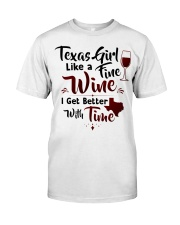 Texas girl like a fine wine Classic T-Shirt tile