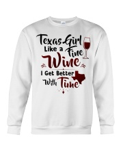 Texas girl like a fine wine Crewneck Sweatshirt tile
