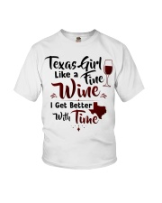 Texas girl like a fine wine Youth T-Shirt thumbnail