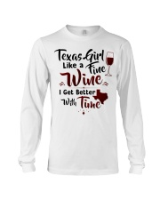 Texas girl like a fine wine Long Sleeve Tee tile