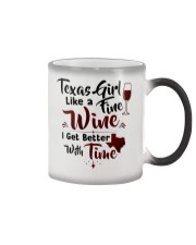 Texas girl like a fine wine Color Changing Mug tile