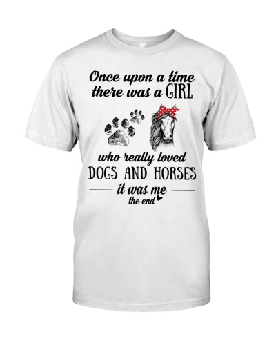 Once upon a time a girl loved dogs and horses