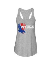 Proud to be a veteran  Ladies Flowy Tank thumbnail