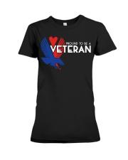 Proud to be a veteran  Premium Fit Ladies Tee thumbnail