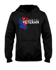 Proud to be a veteran  Hooded Sweatshirt front