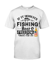 Fishing Beer And Freedom Classic T-Shirt front