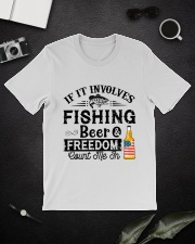 Fishing Beer And Freedom Classic T-Shirt lifestyle-mens-crewneck-front-16