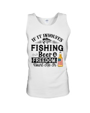 Fishing Beer And Freedom Unisex Tank thumbnail