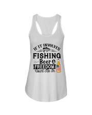 Fishing Beer And Freedom Ladies Flowy Tank thumbnail