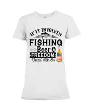 Fishing Beer And Freedom Premium Fit Ladies Tee thumbnail