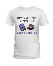 Sponsored By Books And Coffee Ladies T-Shirt thumbnail