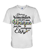 You Are Unique Just Like Everyone Else V-Neck T-Shirt thumbnail