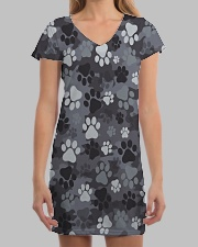 Dog feet Camo All-over Dress aos-dress-front-lifestyle-3