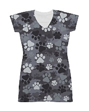Dog feet Camo All-over Dress front