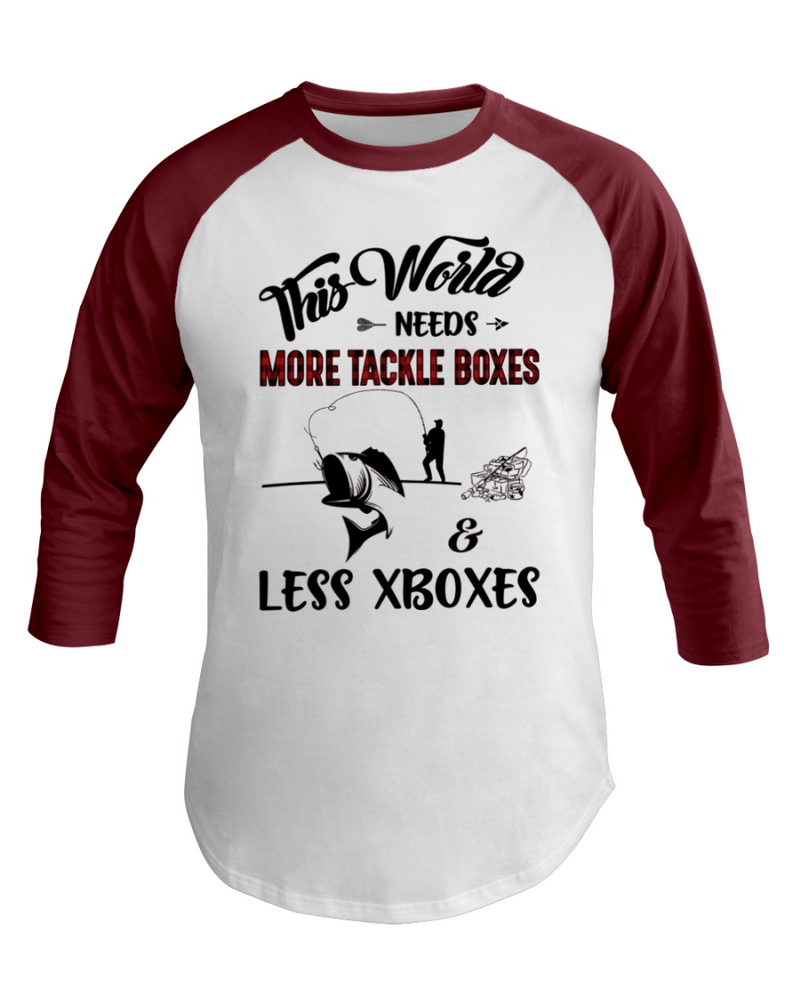 This world needs more tackle boxes  Baseball Tee