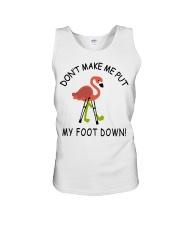 Don't make me put my foot down - Flamingo T-Shirt Unisex Tank thumbnail