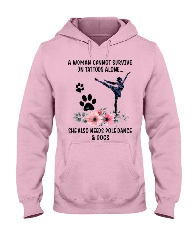 A woman cannot survive on tattoos needs dance dogs