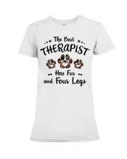 The Best Therapist Has Fur Premium Fit Ladies Tee thumbnail