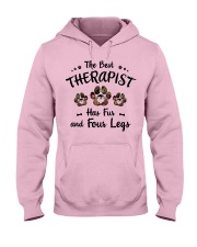 The Best Therapist Has Fur Hooded Sweatshirt front
