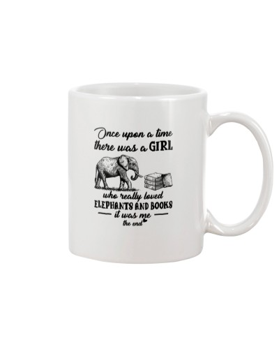 One upon a time a girl loved elephants and books
