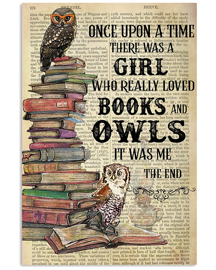 Books Owls Once Upon A Time Vertical Poster 11x17 Poster