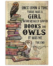 Books Owls Once Upon A Time Vertical Poster 11x17 Poster front