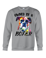 Owned by a Boxer Crewneck Sweatshirt thumbnail