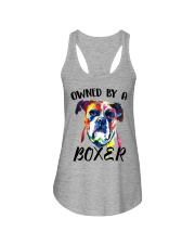 Owned by a Boxer Ladies Flowy Tank thumbnail