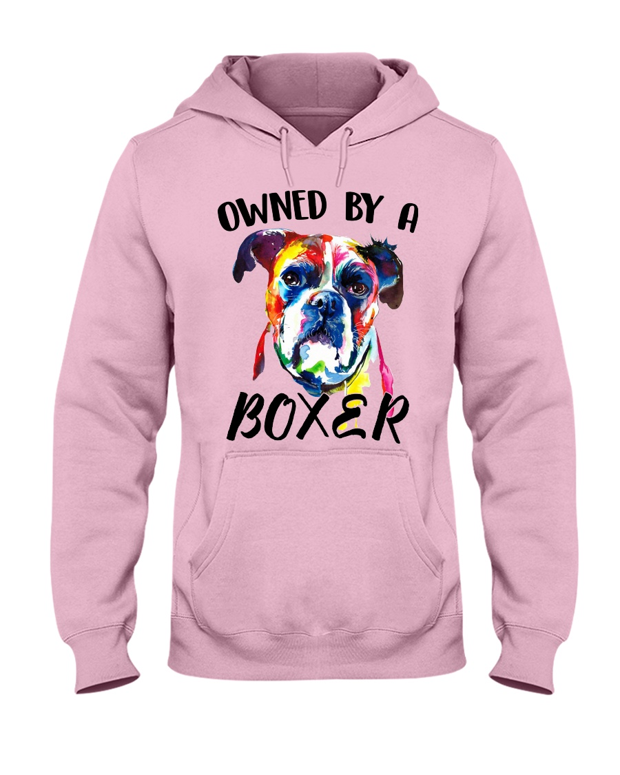 Owned by a Boxer Hooded Sweatshirt