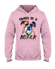 Owned by a Boxer Hooded Sweatshirt front