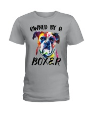 Owned by a Boxer Ladies T-Shirt thumbnail