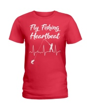 fly fishing heartbeat Ladies T-Shirt thumbnail