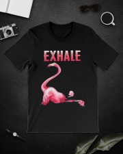 Exhale Flamingo Shirt Classic T-Shirt lifestyle-mens-crewneck-front-16