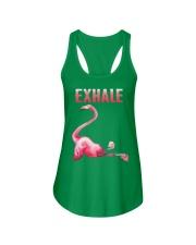 Exhale Flamingo Shirt Ladies Flowy Tank thumbnail
