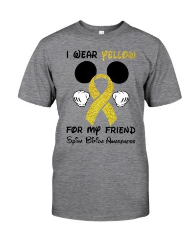 I wear yellow for my friend