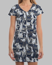 Cat camo All-over Dress aos-dress-front-lifestyle-3
