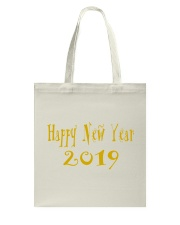 Happy New Year 2019 Tote Bage Tote Bag back